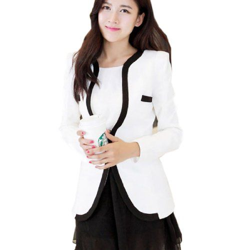 2 Farbe Damen Blazer Business Jacket Slim Fit Anzug Casual Freizeit Damenjacke Gunstig(Medium,Weiss) Fashion Season http://www.amazon.de/dp/B00JGJ8U94/ref=cm_sw_r_pi_dp_JUxcub04JCK63