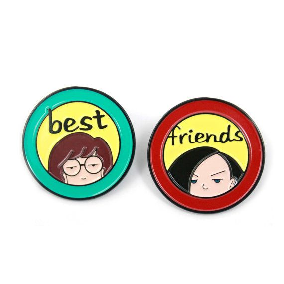 Daria and Jane Enamel Pin Pack  90s by Heartificial on Etsy
