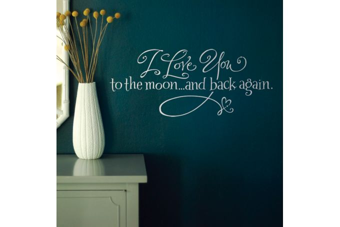 To the Moon & Back - Code: QL015 by Jenga Wall Art & Decals