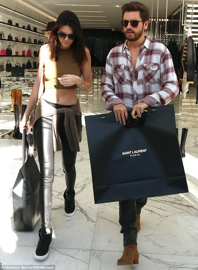 Let's hope that gift is for Kourtney: Scott was seen Christmas shopping with Kendall Jenne...