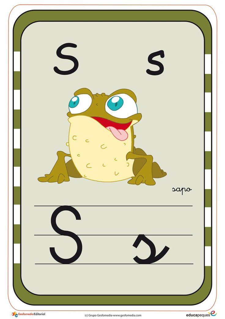 abecedario en color s