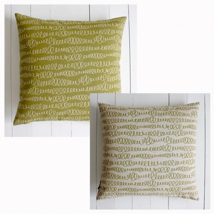 SCRIBBLES LIME Dark/Light Cushion