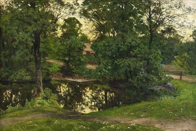 Swedish Landscape Painter Olof Arborelius (1842-1915): Vintage Paintings, Swedish Landscape, Admire Art, Landscape Paintings, Fine Art, Art Delight, Art Landscape, Landscape Art, Landscape Painters