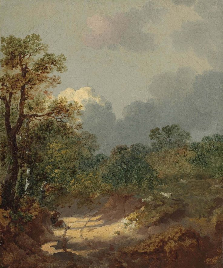 Thomas Gainsborough, Wooded Landscape with Shepherd Resting in a Sunny Path and Sheep, c.1746, Rijksmuseum Twenthe, Netherlands: