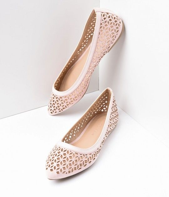 In the mood for a plucky pair of shoes, dear? A cheeky pair of darling nude suede flats that effortlessly harness casual charm - boasting radiant laser cutout detail. Crafted in man-made materials with a cushion interior, so you can be comfortable while y