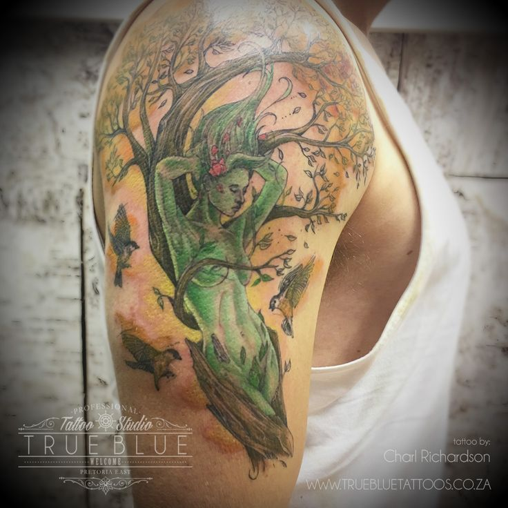 """Lady Earth"" by Charl Richardson of True Blue Professional Tattoo Studio"