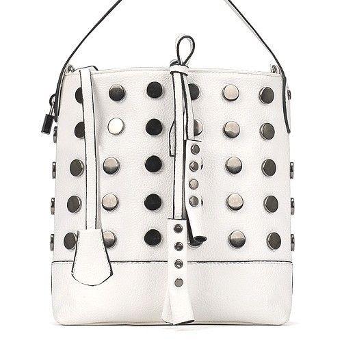 "@cs.ordersis's photo: ""Handbag : C663 WHITE ""Material:  PU Leather Height:  25cm Length:  30cm Depth:  9cm Bag Mouth:  Zipper Long Strap:  Yes Weight:  550g"" Rp180,000  #handbag #bag #tas #ordersis #ordersisdotcom"""