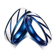 1 unids precio anillo de compromiso clásico de color azul del anillo de bodas…