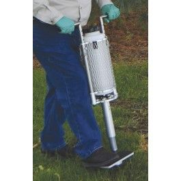 Inject liquid fertilizers or pesticides directly to the root zones of trees and shrubs with this rootfeeding tool.
