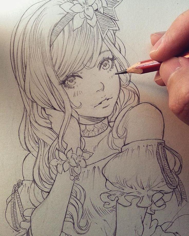 Traditional quickie.  #美少女 #ミスアシスタント  #msassistant #漫画 #manga  #アシスタント #sketch #traditionalart