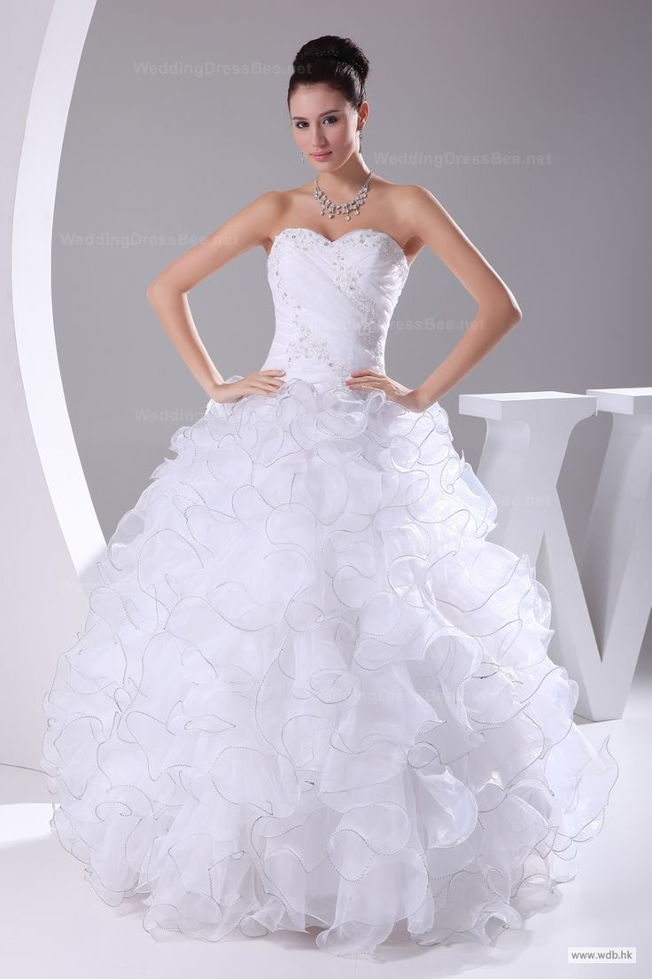 vintage wedding Luxurious and dramatic sweetheart ball gown wedding dress $311.98