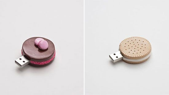 Freaking cute thumbdrive!: Design Products, Usb Cookies, Usb Sticks, Byte Cookies Usb Dr., Cookie Usb Driving, Fun Stuff, Biscuits Usb, Byte Cookie Usb Dr., Object