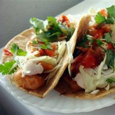 fish tacosWhite Sauces, Beer Batter, San Diego, Limes Wedges, Peak Gallo, Shredded Cabbages, Zesty White, Corn Tortillas, Homemade Pico