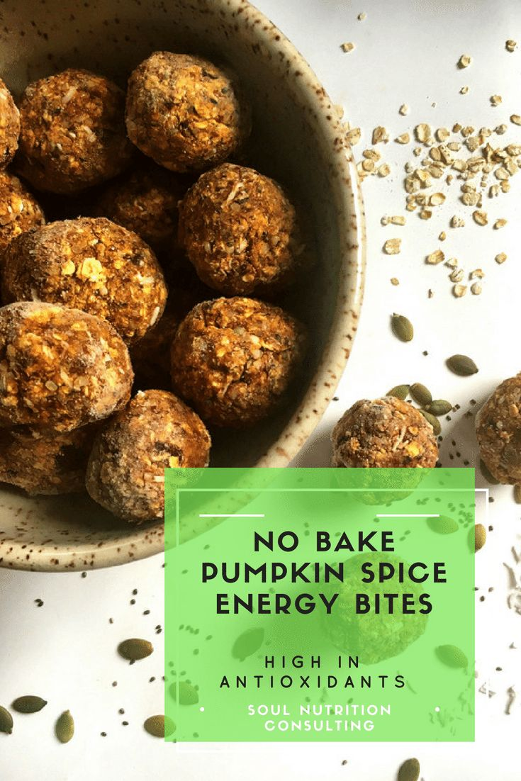Easy, No Bake, Gluten Free Pumpkin Spice Energy Bites - high fibre, transportable, delicious snack