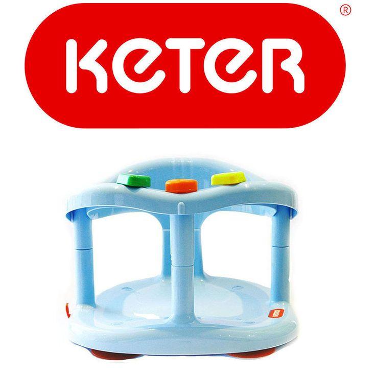 Baby Bath Seat Safety Tub Ring Infant Bathtub Anti Slip Chair Blue GIFT KETER