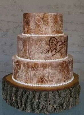 Country wedding cake - tree trunk