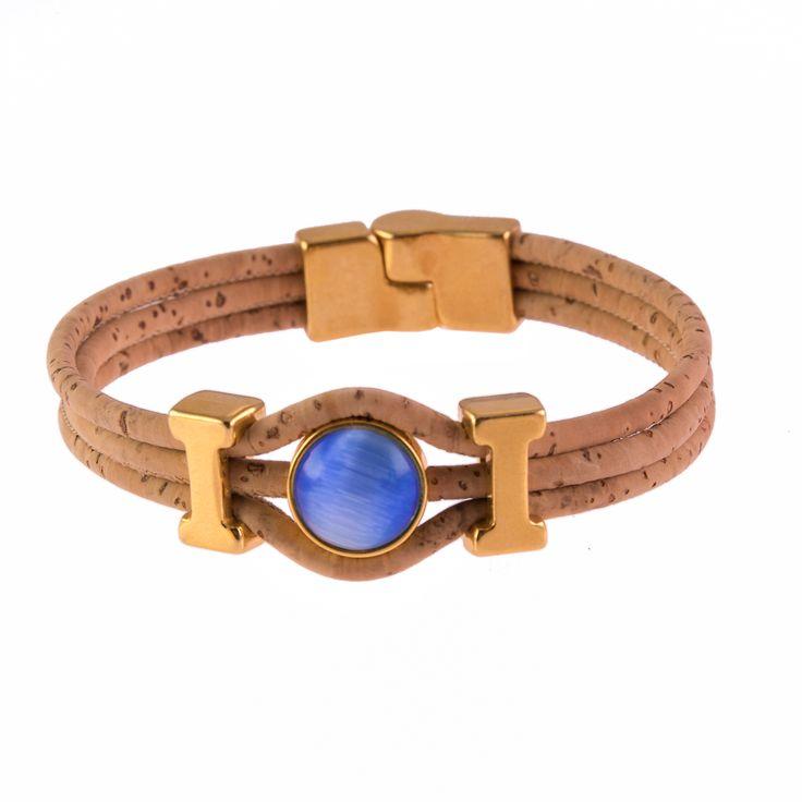 Cat's eye Cork Bracelet !!