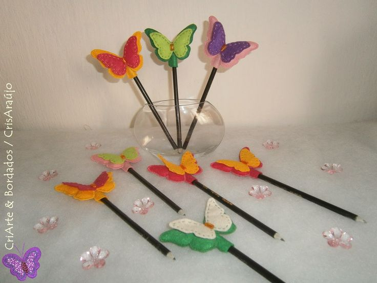 CRIARTE & Embroidery/ more ideas for pencil tops