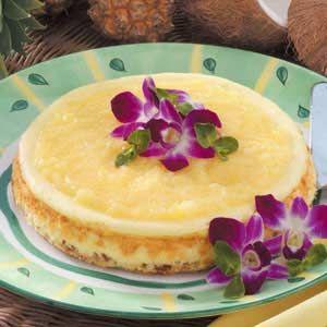Hawaiian Cheesecake Recipe from Taste of Home http://www.tasteofhome.com/Recipes/Hawaiian-Cheesecake