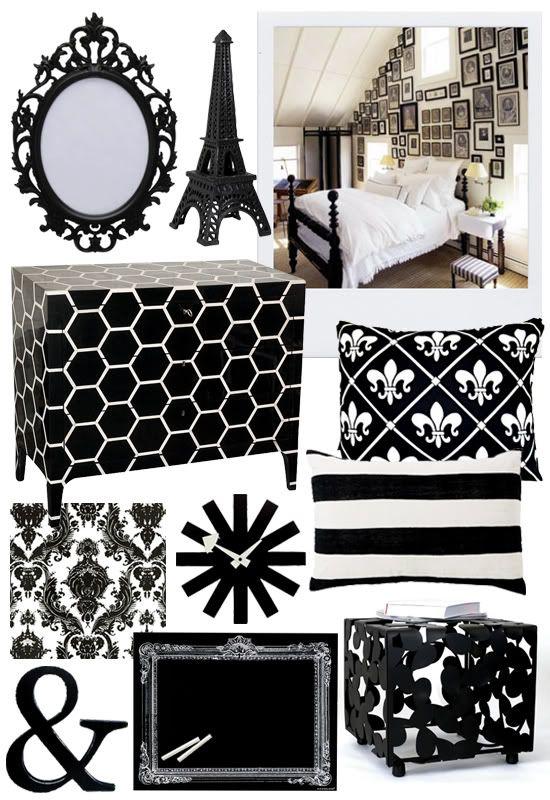 Black and white decor.