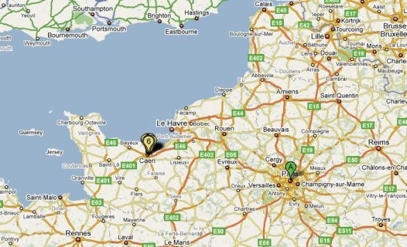 It's Remended To Fly Into Paris And Then Take A Train: Paris To Normandy Map At Infoasik.co