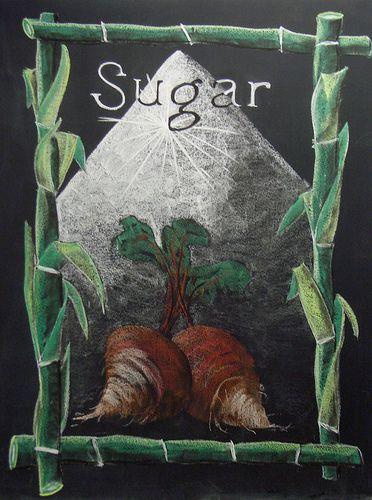 Waldorf ~ 8th grade ~ Organic Chemistry ~ Sugar ~ chalkboard drawing