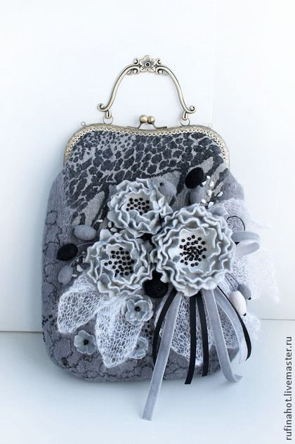 Сумка войлочная. Морозным утром - сумка войлочная,сумка валяная,валяная сумка