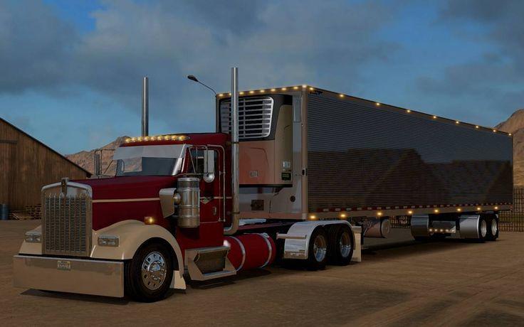 Sebastien Hache On Instagram Ats Combo Americantrucksimulator Ats Kenworth W900 Daycab Videoga American Truck Simulator Tractor Trailer Truck Kenworth