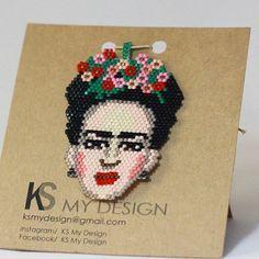 Frida Kahlo kolye siparişi alınır  Sipariş ve fiyat için DM lütfen  #fridakahlo #frida #fridanecklaces #necklace #miyuki #miyukikolye #miyukibeads #fashion #fashionnecklace #ksmydesign