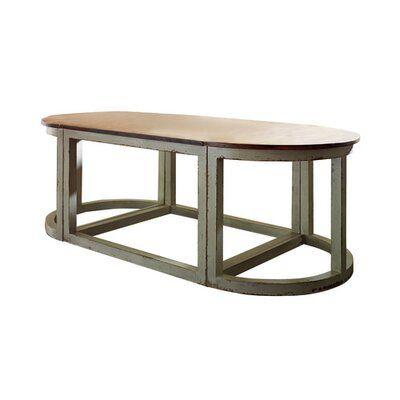 Habersham Sectional Coffee Table Accent Color: Gold, Color: Connoisseur/Tricorn Black