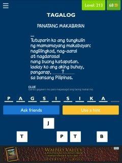 panatang makabayan tagalog