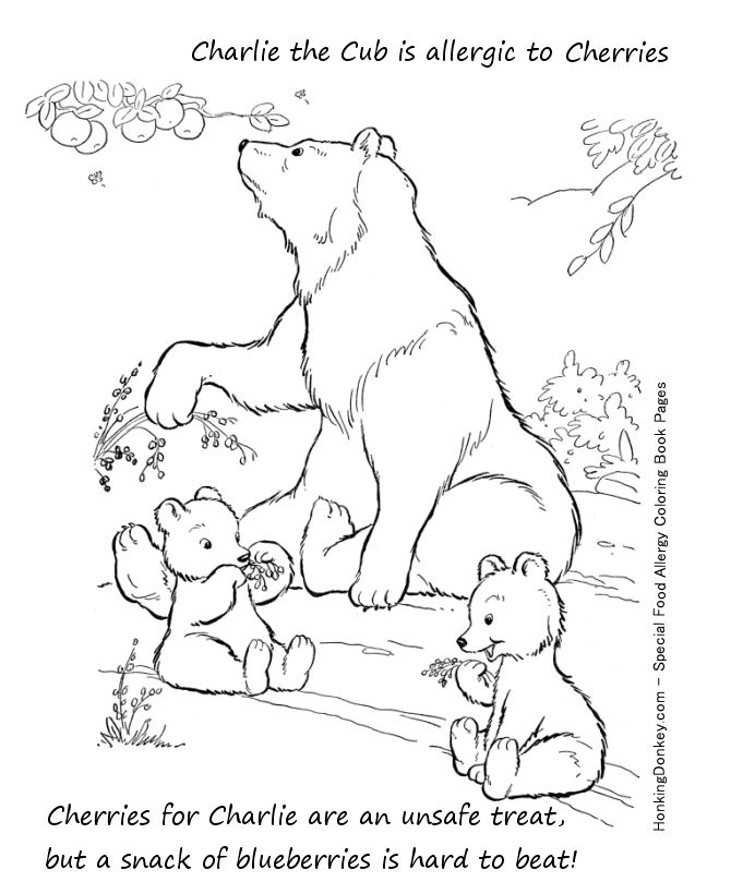 food allergy coloring page cherry allergy