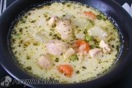 Tárkonyos csirkeleves recept fotóval