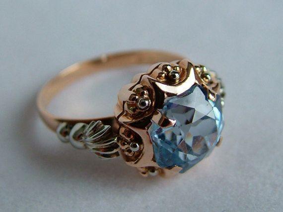18k Gold Blue Spinel Ring * 18k Rose Gold Spinel Ring * 18k Gold Spinel Ring * Gold Spinel Ring * Rose Gold Spinel Ring * Rose Gold Ring