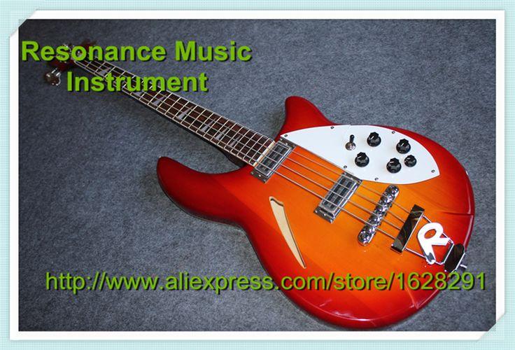 Top Quality Maple Body CS Cherry Sunburst Rickedbacker / Rick 4 Strings Bass Guitar & Left Handed Electric Bass Available