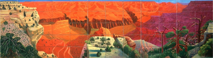 A Bigger Grand Canyon by David hockney 1998 Oil paint. National Gallery of Australia