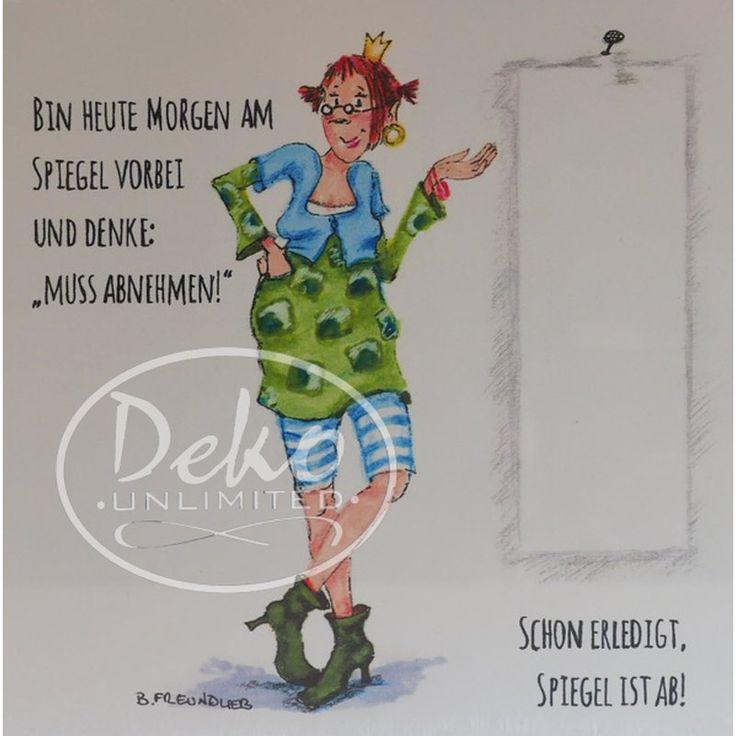 Holzbild - Barbara Freundlieb - MUSS ABNEHMEN - Deko Unlimited - Exklusive Geschenke & Dekoration, 19,95 €
