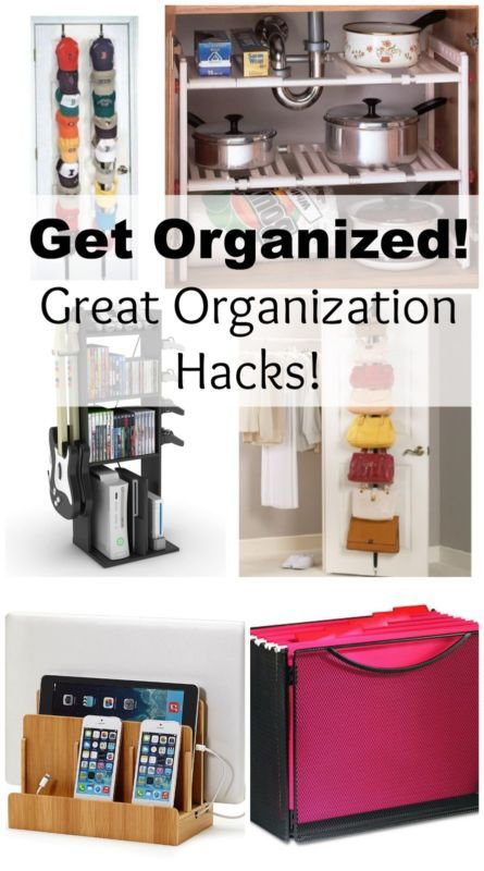 Time to get organized! Check out these great organization hacks and tips!