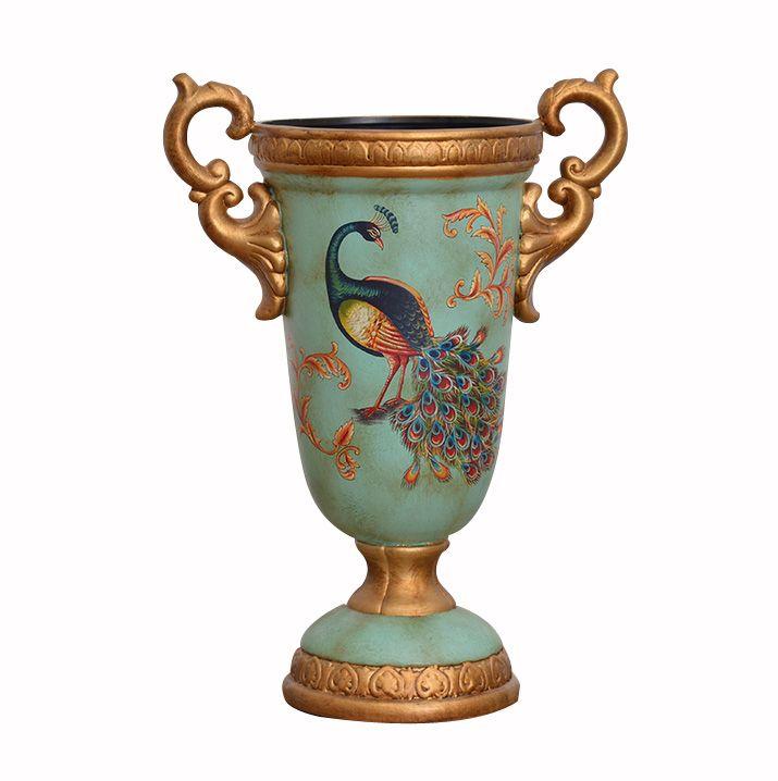 Во всем мире нефрита павлин Американский расписные керамические вазы гостиной дома Ваза Украшения