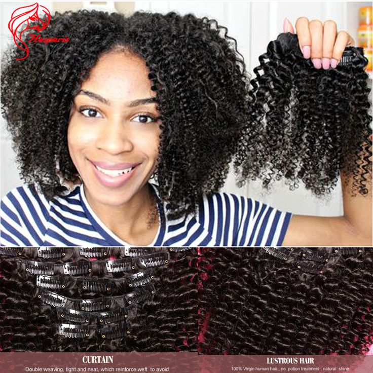 27 best natural hair extensions images on pinterest hair clip in human hair extensions kinky curly brazilian virgin hair clip in extensions african american clip pmusecretfo Choice Image
