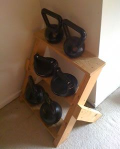 make larger for a kettlebell rack?