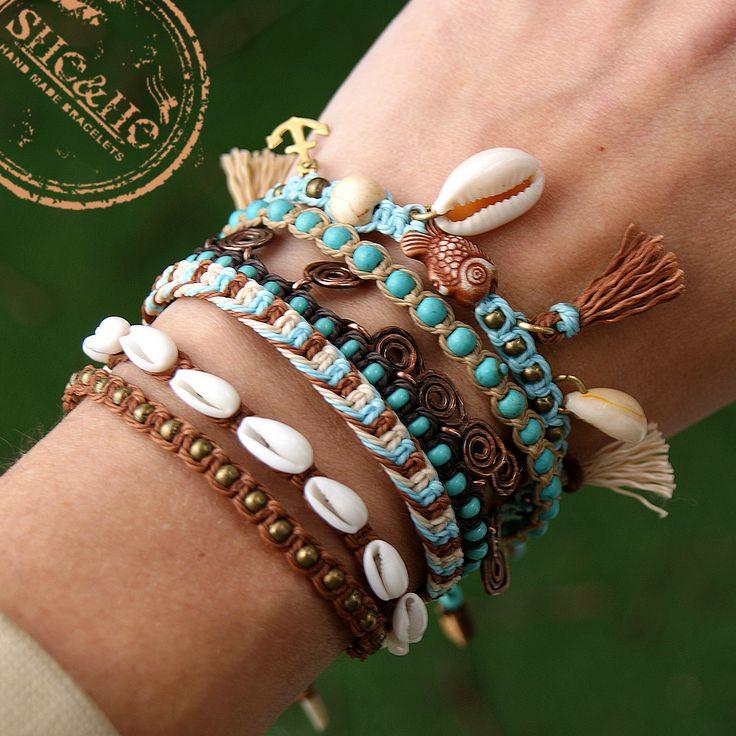 macrame boho bracelet, boho style, seashell bracelet, beach bracelet, wakacyjne bransoletki, bransoletki w stylu boho, bransoletki makrama,