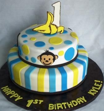 Monkey cake!Monkey Cakes, Monkeys Birthday Cake, Cake Ideas, Parties Ideas, 1St Birthday Cakes, 1St Birthdays, Bday Cake, Birthday Ideas, Monkeys Cake