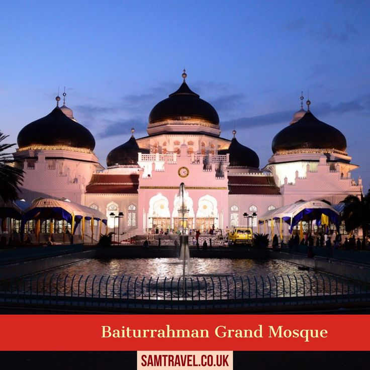 Baiturrahman Grand Mosque is a Mosque located in the center of Banda Aceh city, Aceh Province, Indonesia.The Baiturrahman Grand Mosque is a symbol of religion, culture,spirit,strength,struggle and nationalism of Acehnese people.The mosque is a landmark of Banda Aceh and has survived the 2004 Indian Ocean tsunami. #islam #muslim #islamic