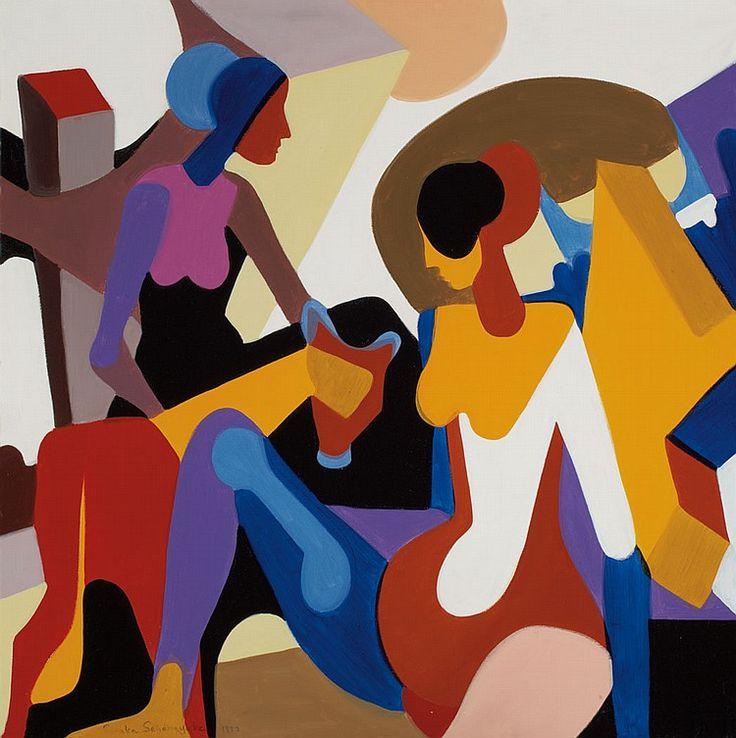 'Women' by Senaka Senanayake , 1973. Oil on canvas: