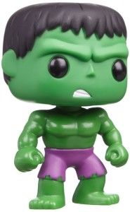 Funko POP Marvel: Hulk Vinyl Bobble Head This Funko Pop! Marvel Superheroes line is just too hard to resist.  Once you own one, you will find yourself wanting more and more. Great for Hulk collectors. http://awsomegadgetsandtoysforgirlsandboys.com/funko-pop-marvel/ Funko POP Marvel: Hulk Vinyl Bobble Head