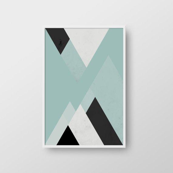 Scandinavian Poster Abstract Print Geometric by DreamPrintDesigns