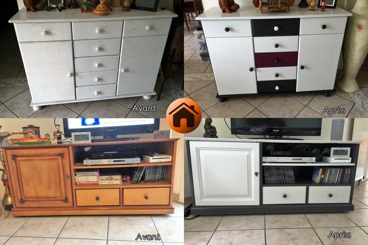 19 best Rénovation de mobilier images on Pinterest - relooker un meuble en pin