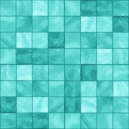 Aqua Glass Tile Background Seamless Background Or