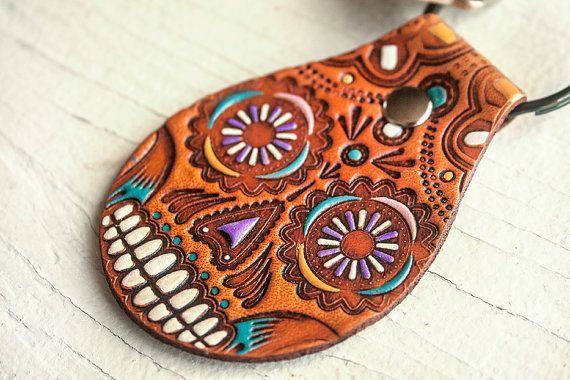 leather belt tooling day of the dead - Google Search